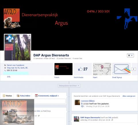 DAP Argus op Facebook